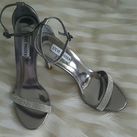 cd971df76d3 Steve Madden silver rhinestone Shoes